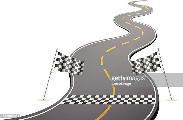 finish line - formula one racing stock illustrations, clip art, cartoons, & icons