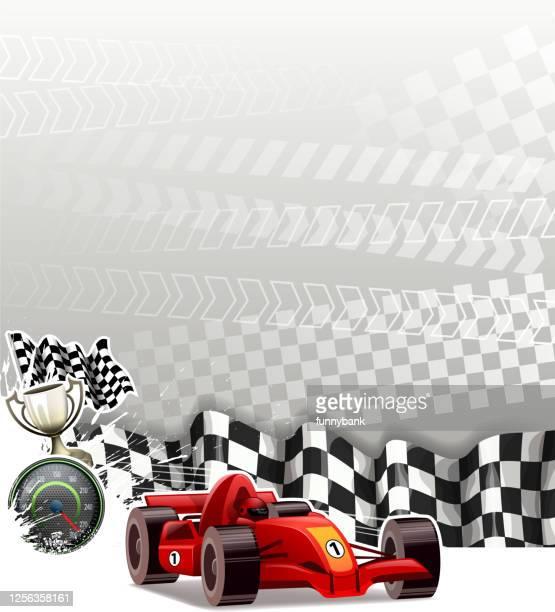 finish racecar - grand prix motor racing stock illustrations