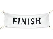 finish white banner