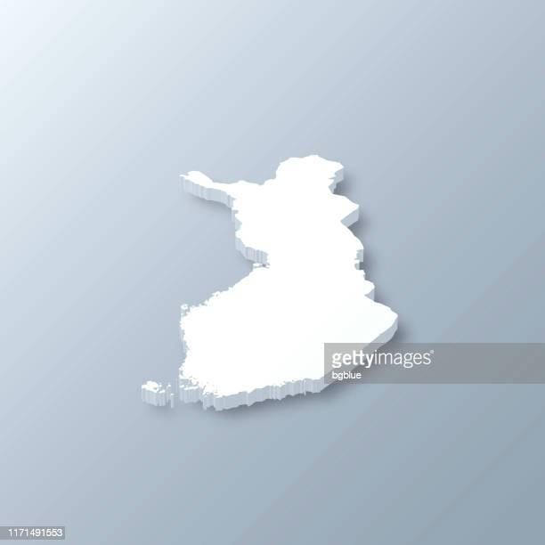 finland 3d map on gray background - finland stock illustrations