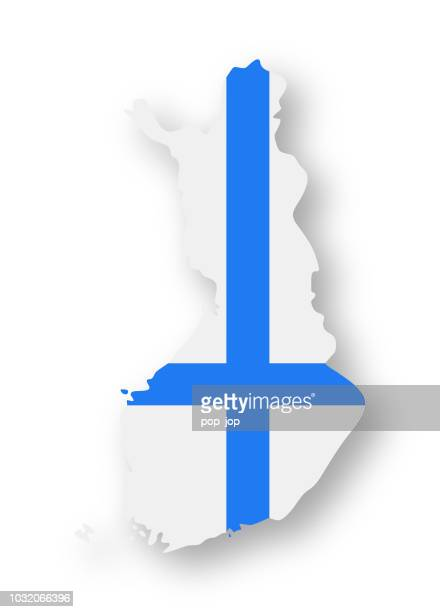 finland - contour country flag vector flat icon - helsinki stock illustrations, clip art, cartoons, & icons