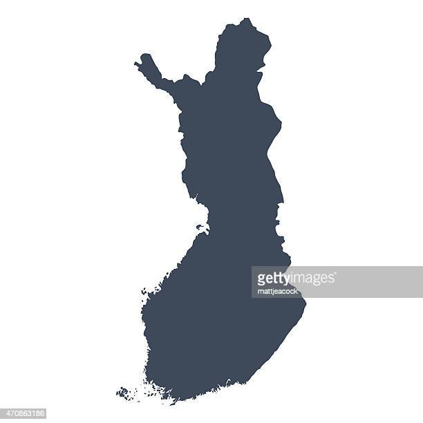 finland country map - finland stock illustrations