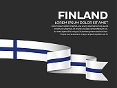 Finland flag background