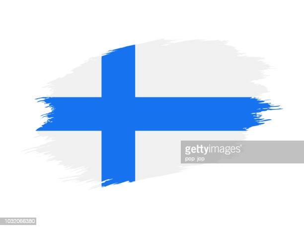 finland - grunge flag vector flat icon - helsinki stock illustrations, clip art, cartoons, & icons