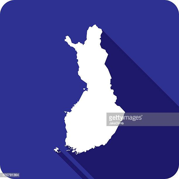 finland icon silhouette - helsinki stock illustrations, clip art, cartoons, & icons