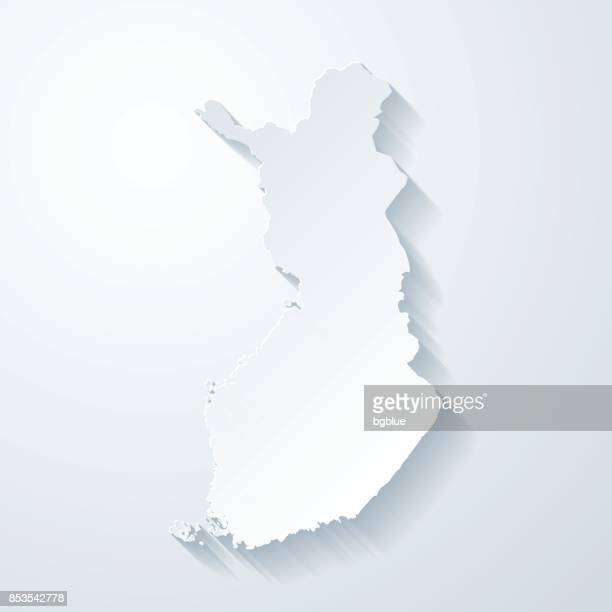 finland map with paper cut effect on blank background - finland stock illustrations