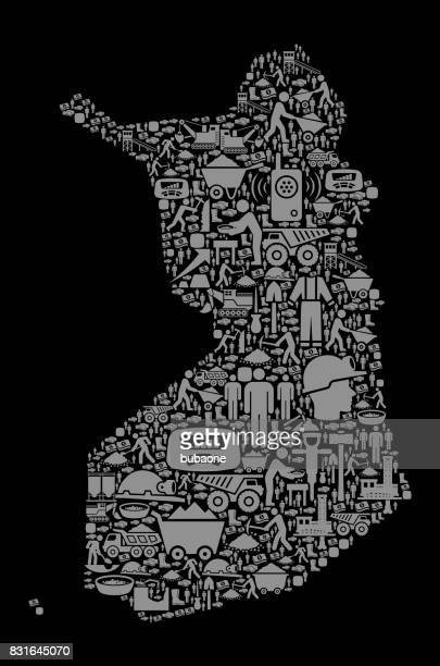 Finland Mining Industry Vector Graphic