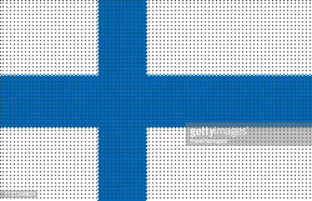 Finnland pixelte Vektorflagge