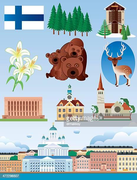 finland symbols - helsinki stock illustrations, clip art, cartoons, & icons