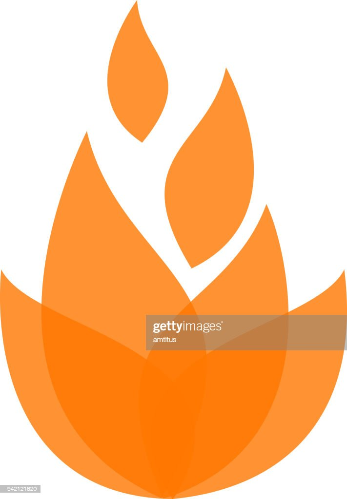 fire abstract : stock illustration
