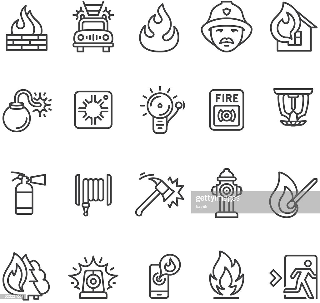 Fire alarm and department icon : stock illustration