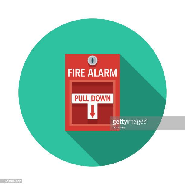 Fire Alarm Flat Design April Fools Day Icon