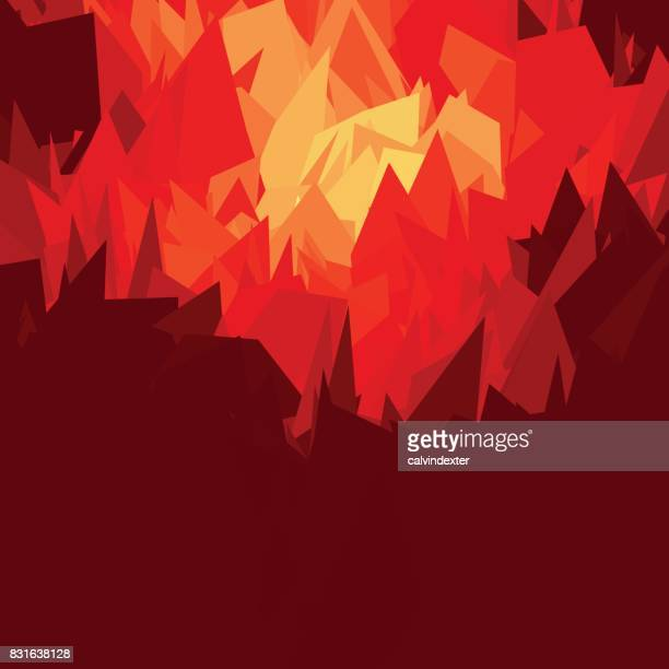fire and flames background - hell stock illustrations