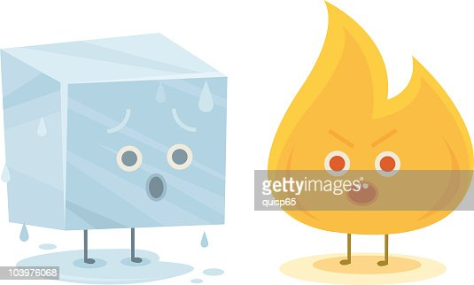 Fire And Ice Characters Vector Art | Getty Images