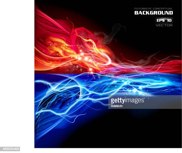 Fire and Lightning conceptual background