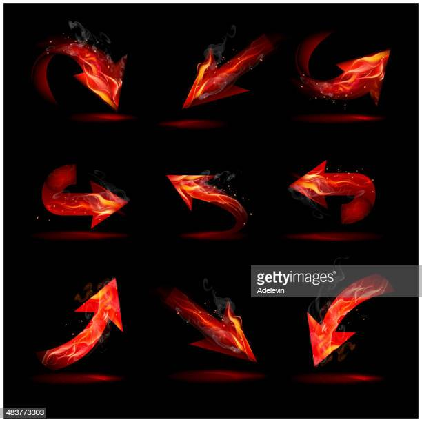 fire and smoke arrows - flare stack stock illustrations, clip art, cartoons, & icons