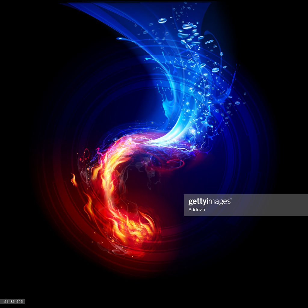 FIre and  Water Backgrounds : stock illustration