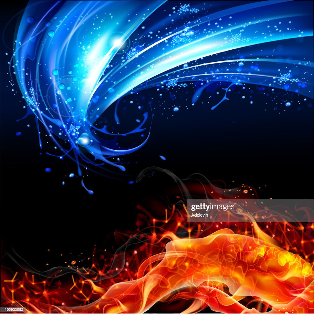 Fire and water concept background : stock illustration