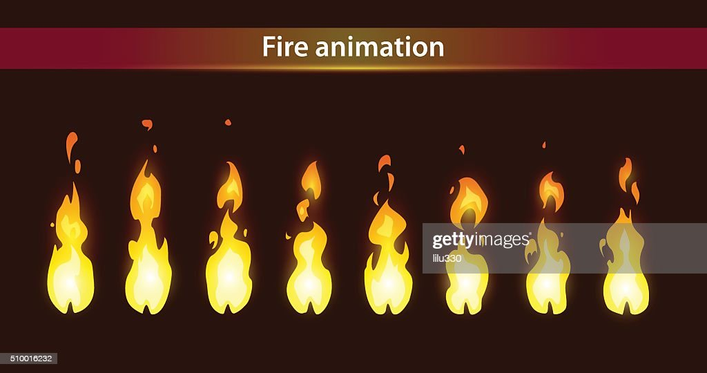 Fire animation sprites