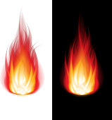 Fire black and white background vector