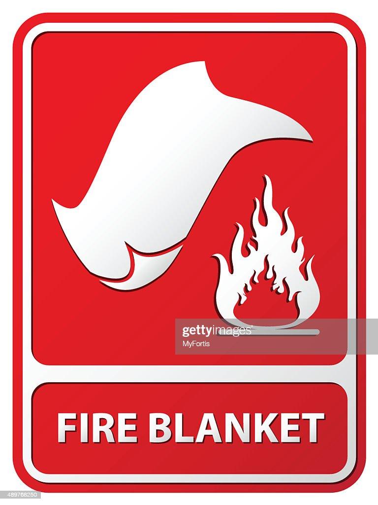 Fire Blanket : stock illustration