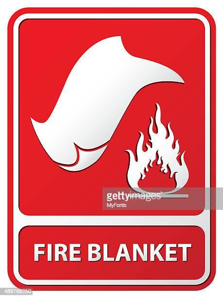 fire blanket - blanket stock illustrations