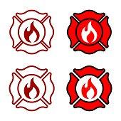 Fire Department Badge Logo Template Illustration Design. Vector EPS 10.