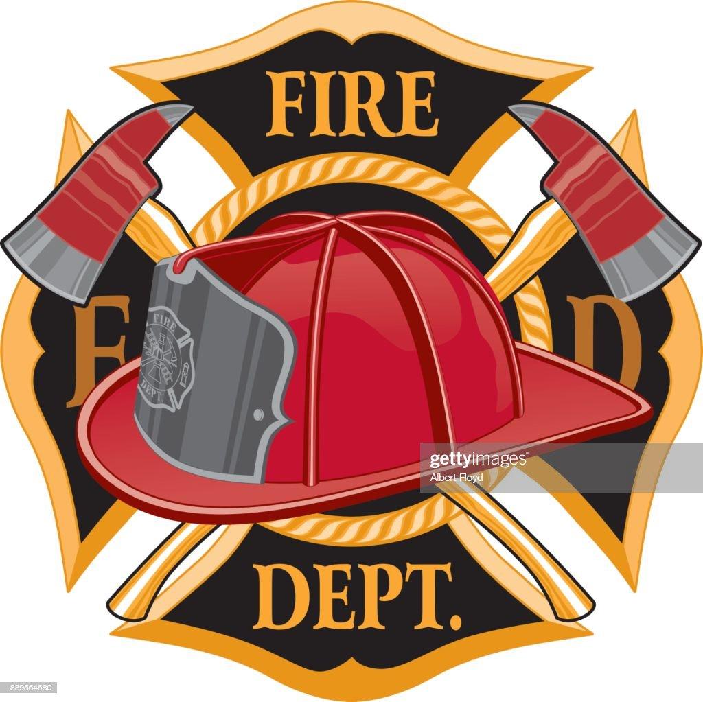 Fire Department Cross Symbol
