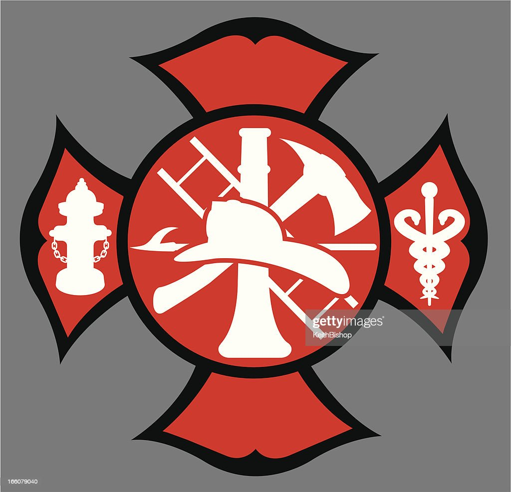 Fire department symbol vector art getty images fire department symbol vector art buycottarizona Choice Image