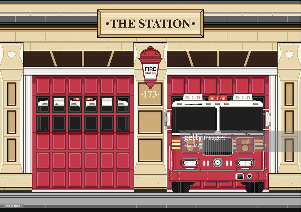 Fire Engine at Station House