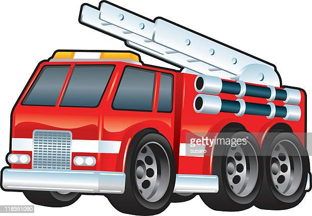 fire engine - fire engine stock illustrations, clip art, cartoons, & icons
