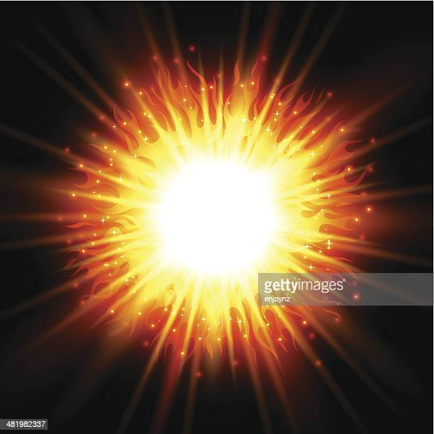 fire explosion - natural phenomenon stock illustrations, clip art, cartoons, & icons
