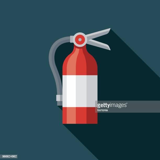 Icono de servicios de emergencia de diseño plano extintor