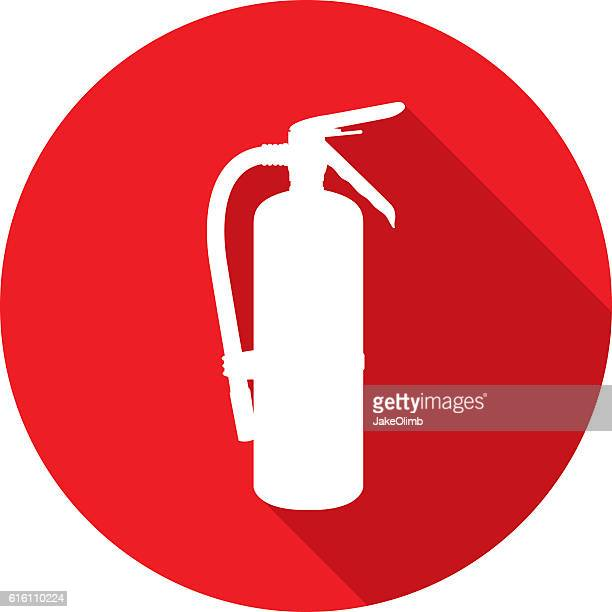 Fire Extinguisher Icon Silhouette