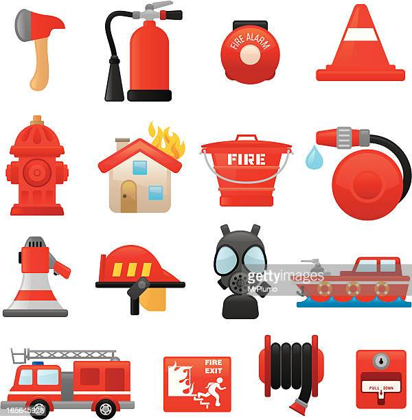Fire fighting icons | smoso series