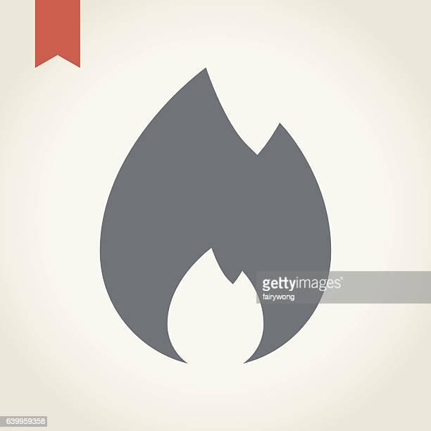 ilustraciones, imágenes clip art, dibujos animados e iconos de stock de fire flame icono - incendio forestal