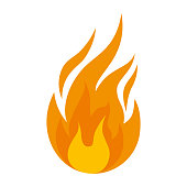 fire flame isolated icon