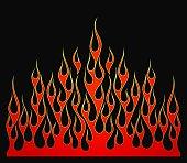 Fire flames vector element