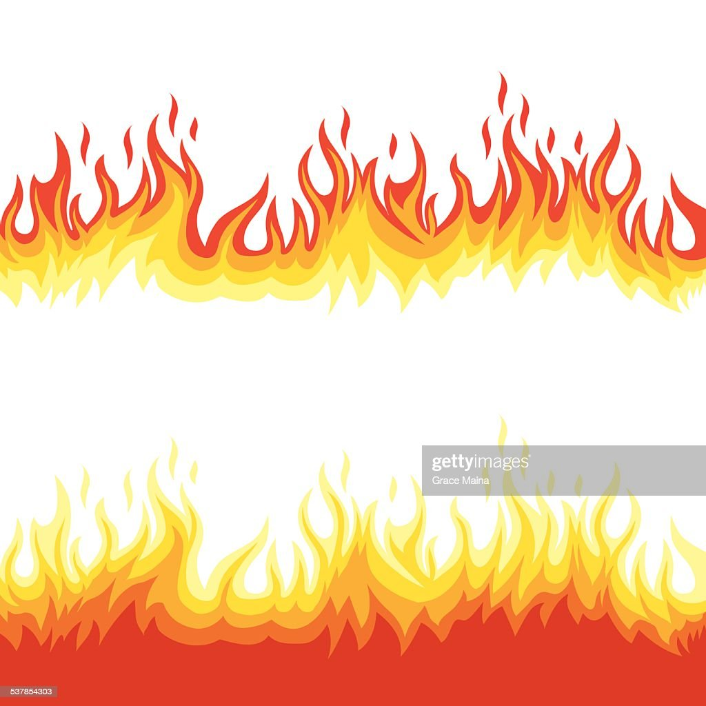 Fire flames - VECTOR : stock illustration
