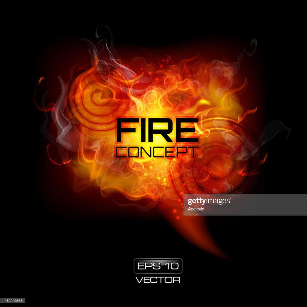 Fire frame : stock illustration