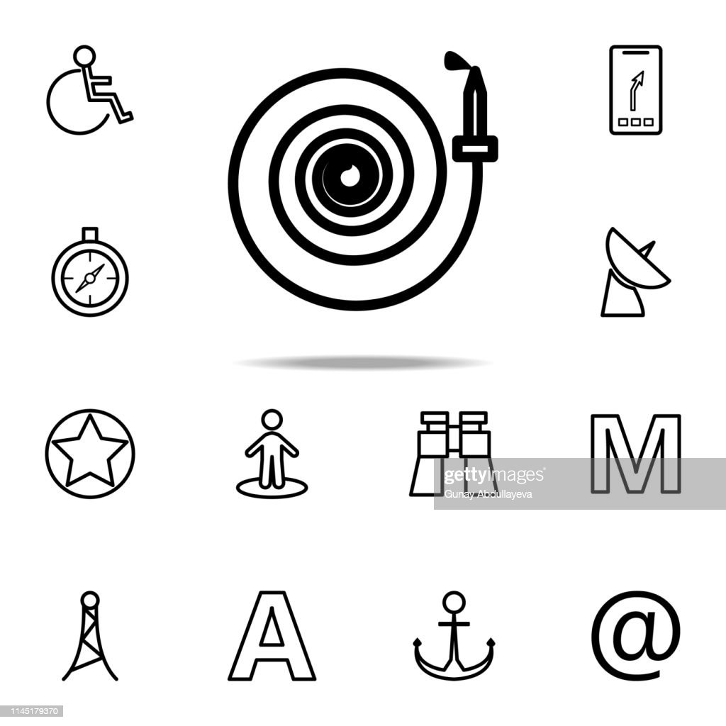 fire hose icon. Navigation icons universal set for web and mobile