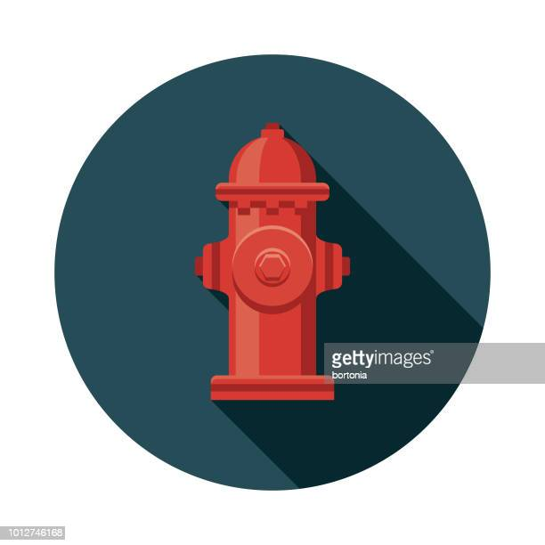 fire hydrant flat design united kingdom icon - fire hydrant stock illustrations