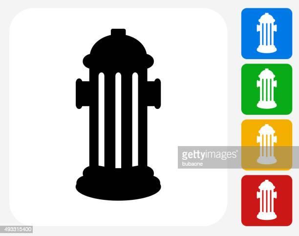 fire hydrant icon flat graphic design - fire hydrant stock illustrations