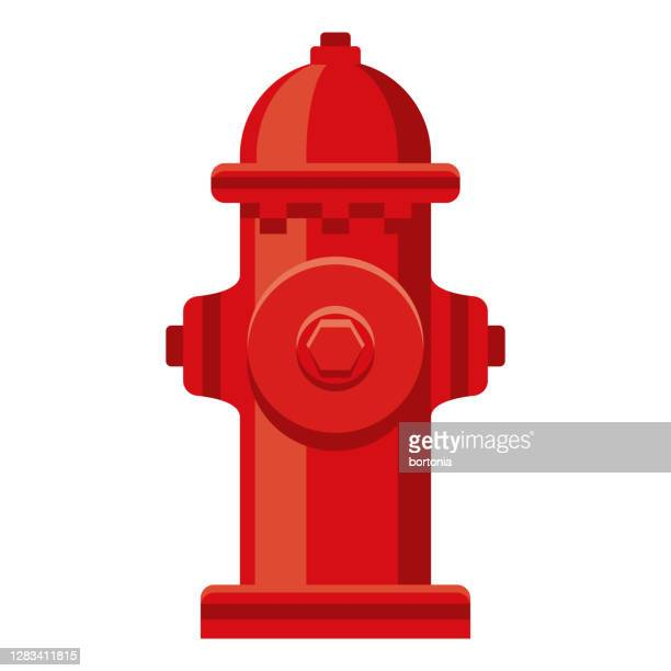 fire hydrant icon on transparent background - fire hydrant stock illustrations