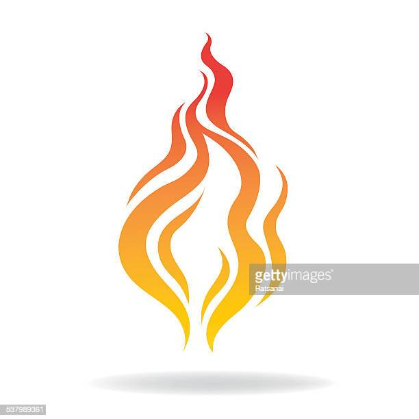 fire icon - flare stack stock illustrations, clip art, cartoons, & icons