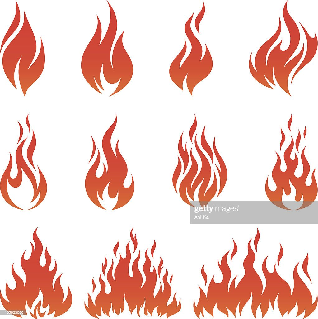 Fire icons : stock illustration