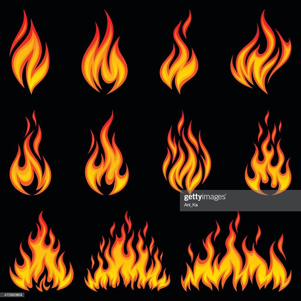 Fire icons : Stockillustraties