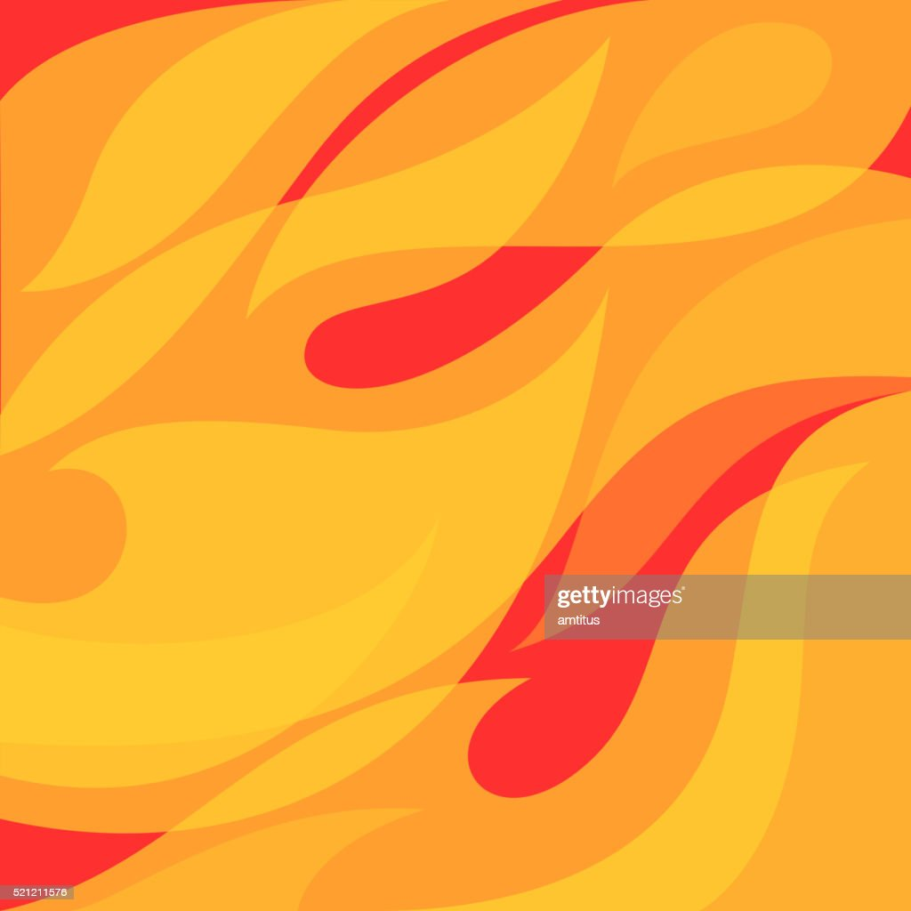Fire in the wind : stock illustration
