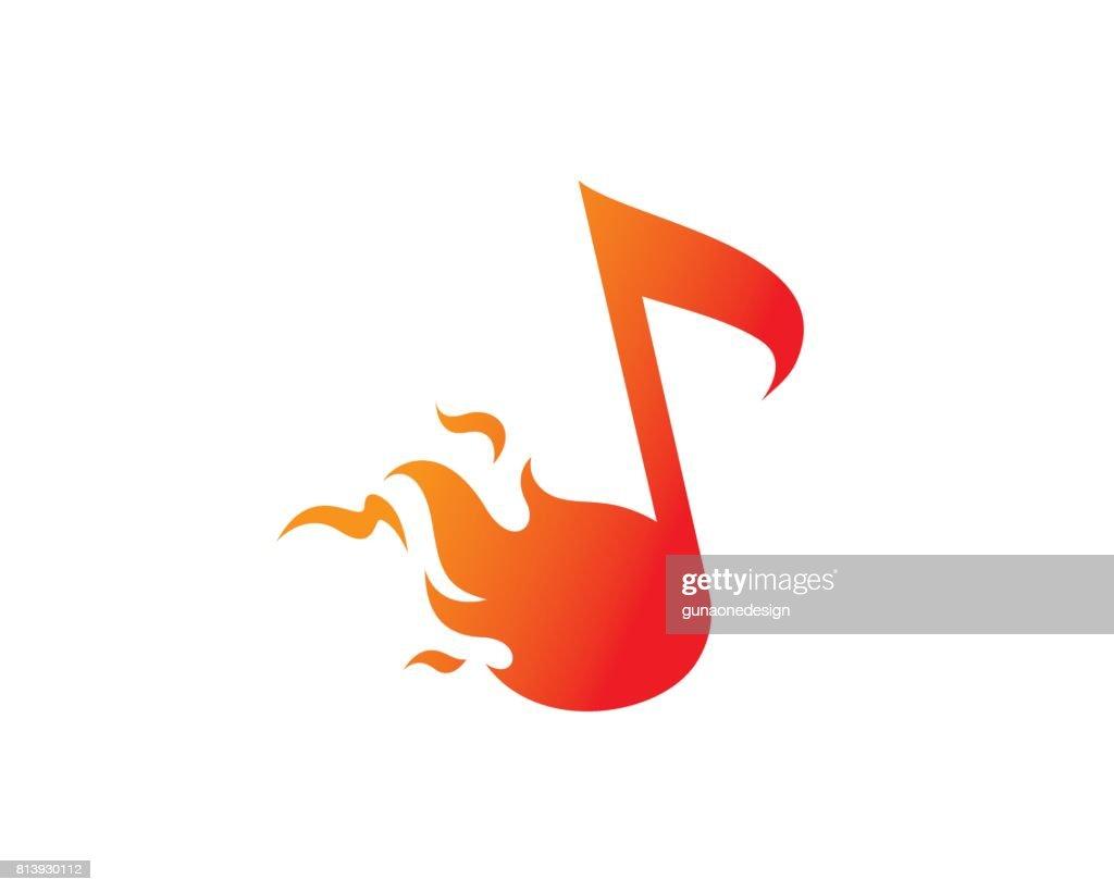 Fire Music Symbol Template Design Vector, Emblem, Design Concept, Creative Symbol, Icon