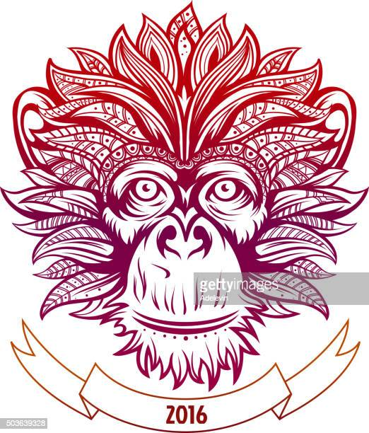 Fire Ornate Monkey's Head